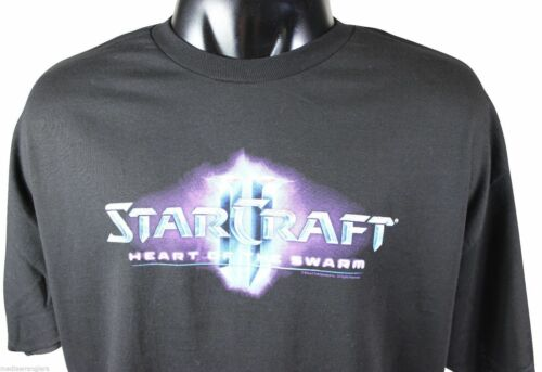NEW STARCRAFT II T-SHIRT XXL Black JINX Classic PC Video Game Geek Gamer NWOT