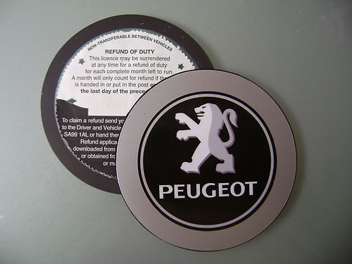 Magnetic Tax disc holder fits any peugeot 106 107 206 207 306 307 406 407 ppeuas