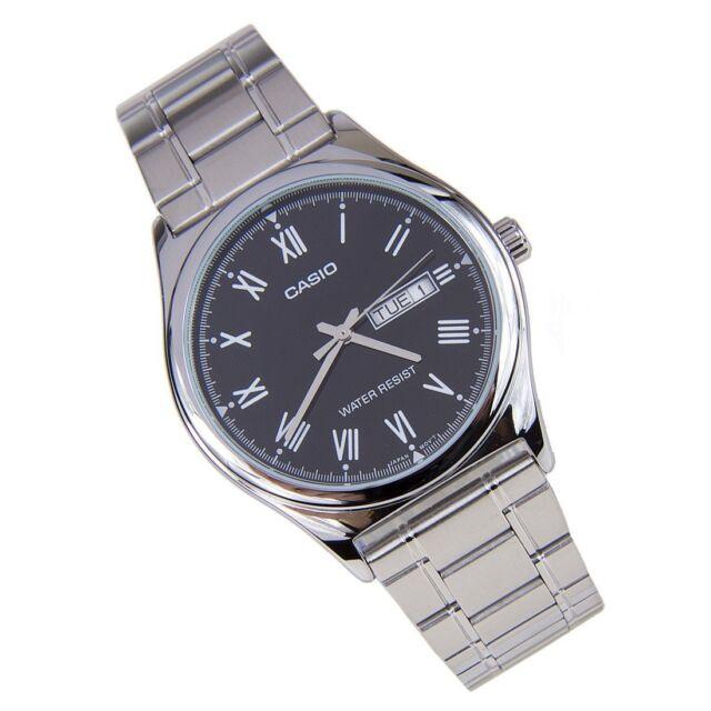 MTP-V006D-1B Black Men's Watches Genuine Casio Brand-New