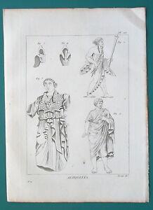 GREEK-DRESS-Male-Coat-Pallium-God-Jupiter-Pallas-Chlamys-1804-Antique-Print