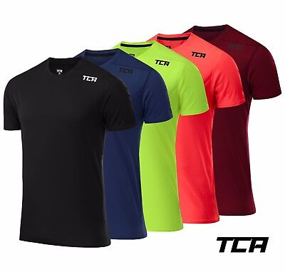 TCA Speedmesh Mens Short Manche Running Top-Green