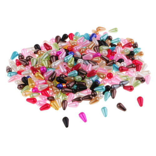 300 Pcs Beads For Jewelry Making Plastic Faux Pearl Teardrops DIY Findings