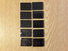 Lego 10 Black Base Plate Display 4 stud Stand Tile For Minifigure Figure Series