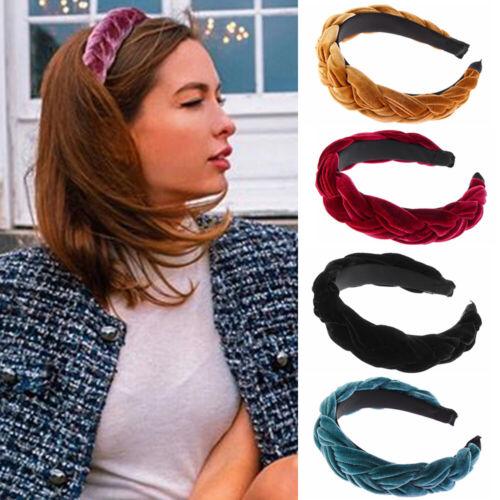 Accessories Wide Sweet Braid Hairband Velvet Headband Solid Color Hair Hoop