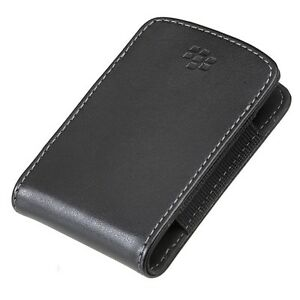 BLACKBERRY-TORCH-9800-9810-OEM-BLACK-LEATHER-SLIM-POCKET-POUCH-CASE-COVER-SLEEVE