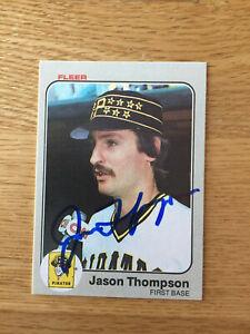 Pittsburgh Pirates Jason Thompson signed 1983 Fleer card