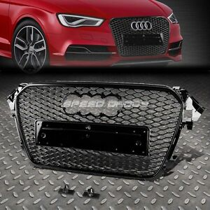 rs style black abs front bumper honeycomb grill guard for. Black Bedroom Furniture Sets. Home Design Ideas