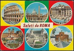AB6079 Saluti da Roma - Vedute - Vintage postcard - Cartolina postale