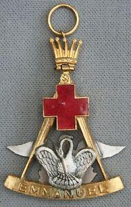 Franc-maconnerie-Ancien-Bijou-maconnique-Rose-Croix-18e-degree-REAA