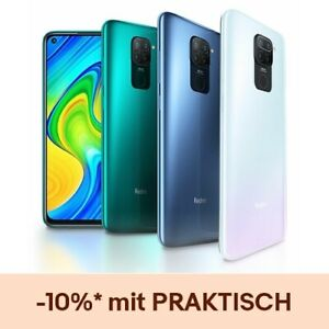 Xiaomi Redmi Note 9 4GB 128GB Smartphone Handy 6.53 Zoll 5020mAh Quad Camera NFC