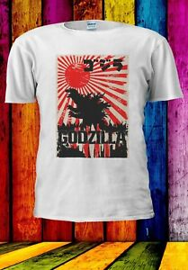 GODZILLA-Giapponese-Tokyo-MONSTER-Uomini-Donne-Unisex-T-shirt-905