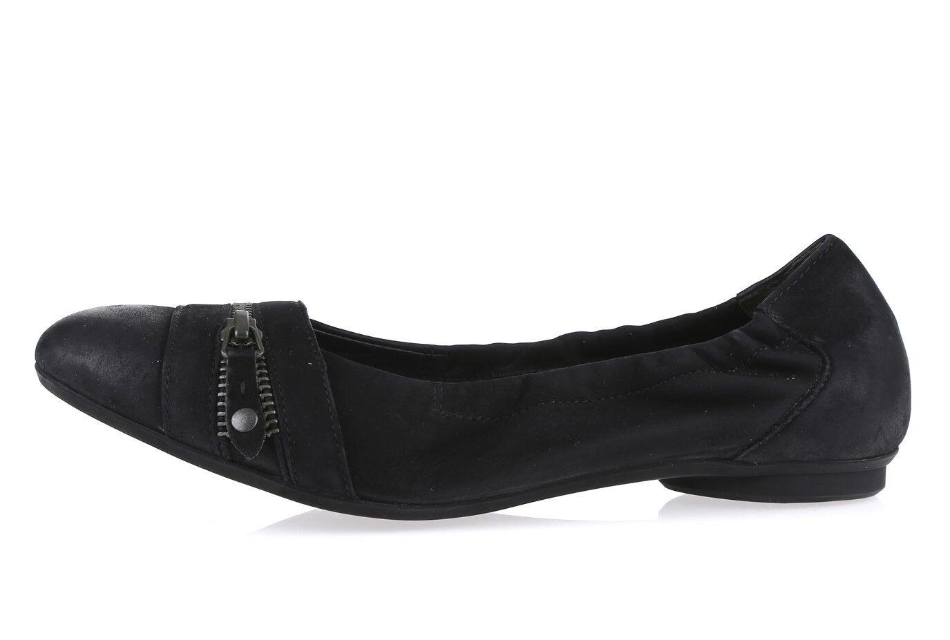 Womens PAUL GREEN 203958 black black black leather ballet flats sz. UK 4 NEW 7c75e6