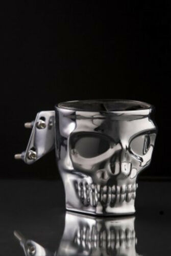 KRUZER KADDY SKULL CHROME FINISH SWITCH MOUNT FITS NEW HD MOTORCYCLE CUP HOLDER