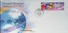 Malaysia FDC with stamp (27.09.2001) - FDI World Dental Congress 2001