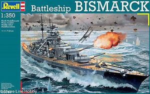 German Battleship Bismarck Revell 05040 1/350 Model Ship Kit New