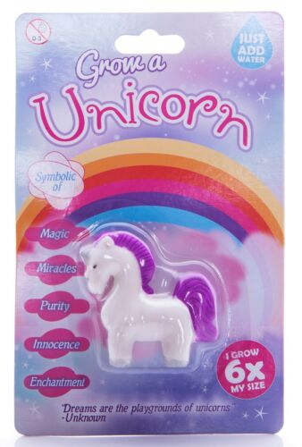 Unicorn New Grow Your Own Secret Santa Stocking Filler Put in Water Grows 6x