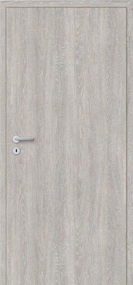 Zimmertür Innentür Tür + Zarge in CPL Eiche grau gekälkt RSP Rundkante