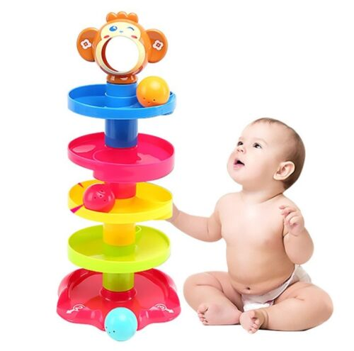 Baby Toys Tower Puzzle Rolling Ball Bell Stackers Kids Toys Trottie Educate Gift