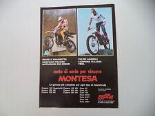 advertising Pubblicità 1978 MONTESA CAPPRA 250 VB e MICHELE MAGAROTTO/ADAMOLI
