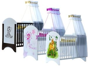 Brand New Bed Child Luxury Baby Cot With Mattress 120x60