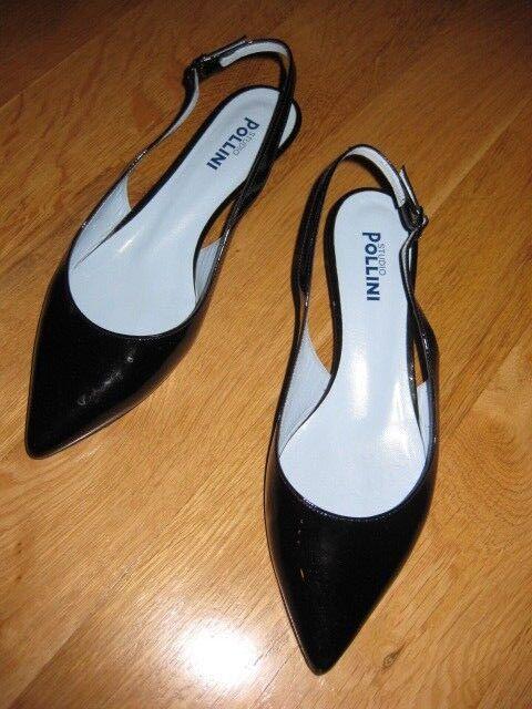 Pollini studio vernice nero Günstige und gute Schuhe