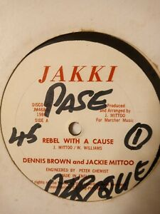 "Dennis Brown & Jackie Mittoo – Rebel With A Cause - 12"" Vinyl Single 1986"