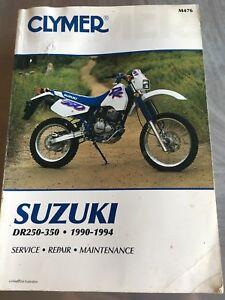 CLYMER-M476-SUZUKI-DR250-350-1990-1994