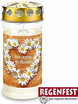 mit Regenschutz 12x Aeterna Gedenkkerze 30/% Pflanzenölanteil