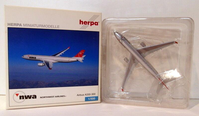 Herpa 1   500 skala druckguss - 502009 airbus a330 - 300 nwa nb02nw