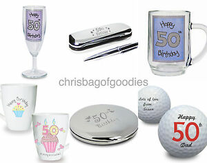 Image Is Loading 50th Fiftieth Birthday Gifts PRESENTS Keepsake For Ladies