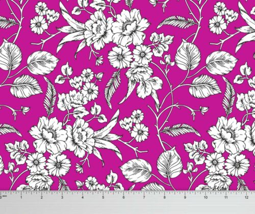 Soimoi Floral Printed 115 GSM 58 Wide Viscose Rayon Sewing Fabric By Metre