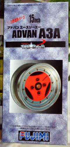 Fujimi 192871 Felgen Advan A3A 15 Zoll inkl Reifen Pirelli Cinturato P 7 1:24