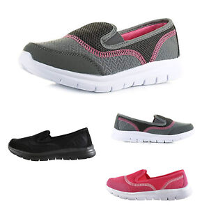 Womens Ladies Slip On Confort Walk Go