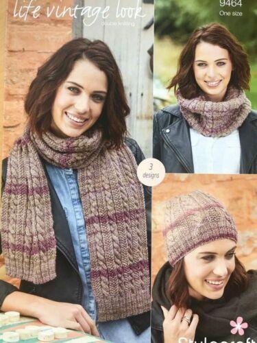 Stylecraft 9464 DK Accessories Knitting Pattern