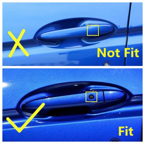 Carbon fiber Style Side Door Handle Cover Trim 8pcs For Honda Fit Jazz 2014-2019