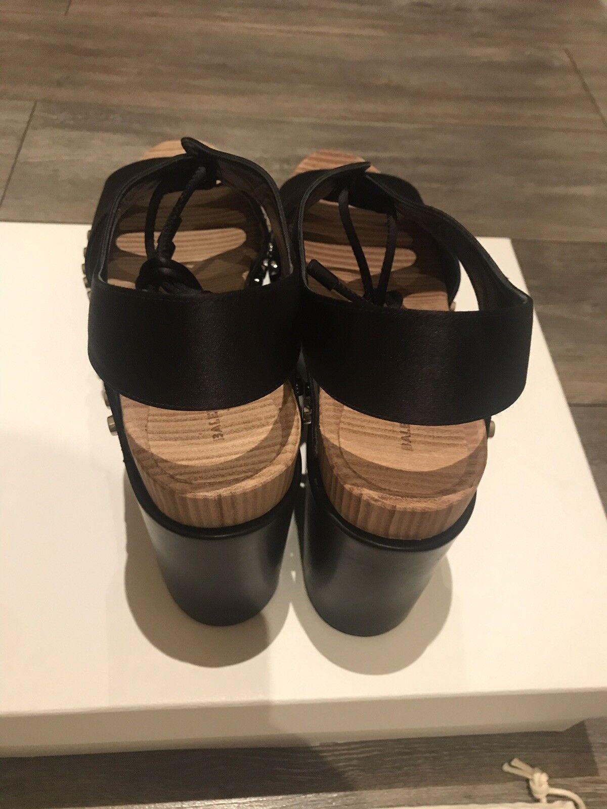 Brand New New New Balenciaga Sandal Tess en satin noir taille 41 cd63c3