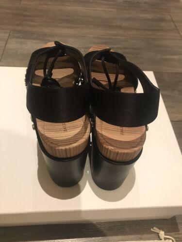 balenciaga 41 noir taille tessin Toute satiné sandale nouvelle R1x01wEq