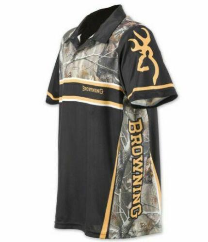 Browning Shooting Team Polo Short Sleeve Shirt RTX Black Men/'s Large 2XL
