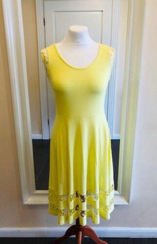 Alba Moda Robe Robe D/'été Loisirs robe plage robe viscose jaune taille 38 44 46