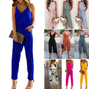 UK-Womens-Holiday-Playsuit-Romper-Ladies-Jumpsuit-Summer-Beach-Dress-Size-8-14