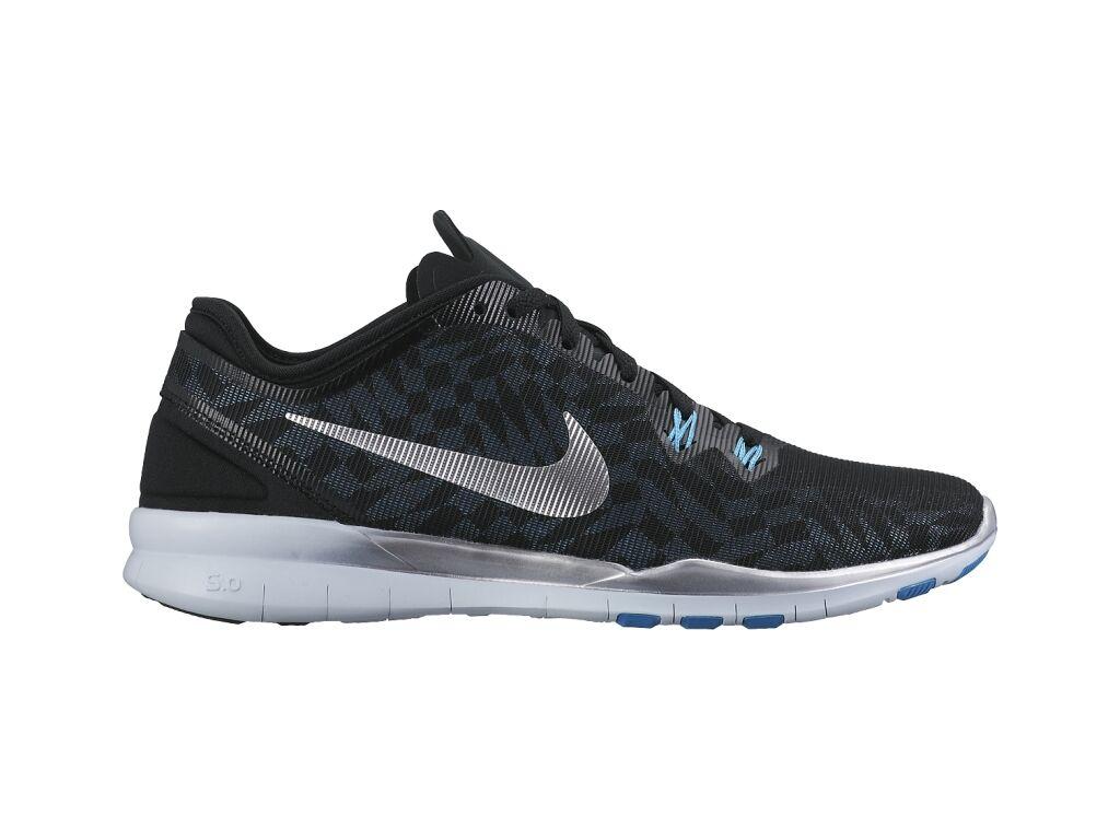 Nike Mujeres Free 5.0 TR FIT 5 Negro Metalizado Azul 806277-002 Talla 5.5 6 6.5