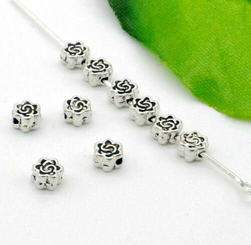 Free Ship 1000Pcs Tibetan Silver Spacer Beads For Jewelry Making 5x3mm
