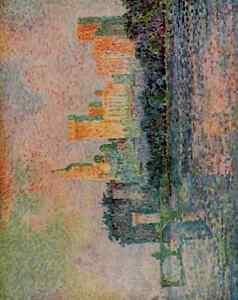 A4-Photo-Signac-Paul-1863-1935-Le-Chateau-de-Papes-Print-Poster