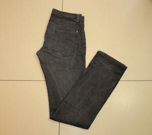 5aa628e0 Black Denim ZARA MAN Button Low Rise Slim Straight Leg Men's Jeans W ...