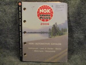 NGK-Spark-Plugs-2006-Non-Automotive-Commercial-Lawn-amp-Garden-Marine-Catalog