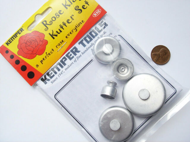 Kemper K50 -Rose Pattern Cutter Set For Clay, Wax, Dough - Long Lasting Brass