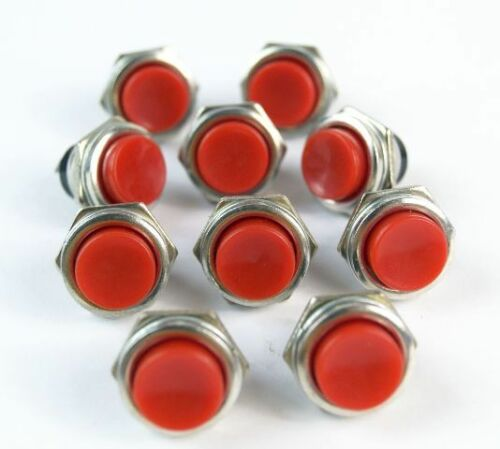 Red Momentary Push Button for guitars//kit cars//boats 19mm