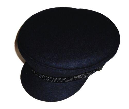 Elbsegler Marine panno lana produzione tedesca BERRETTO capitano Berretto NUOVO