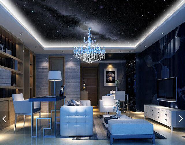 3D Night Sky Galaxy 72 Wall Paper Wall Print Decal Wall Deco AJ WALLPAPER Summer