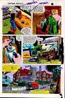Original 1981 Captain America Marvel Comics color guide art page 9: Colan/1980's